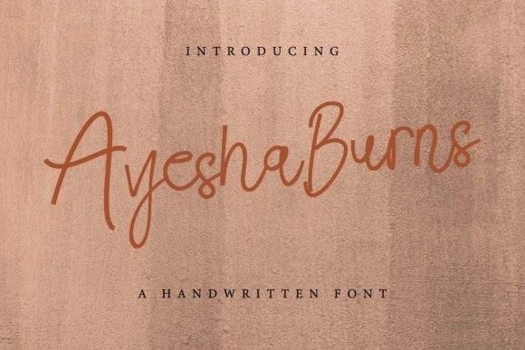 Ayesha Burns Handwritten Font