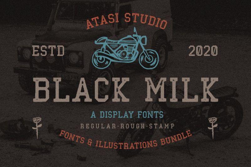 black-milk-rough-font