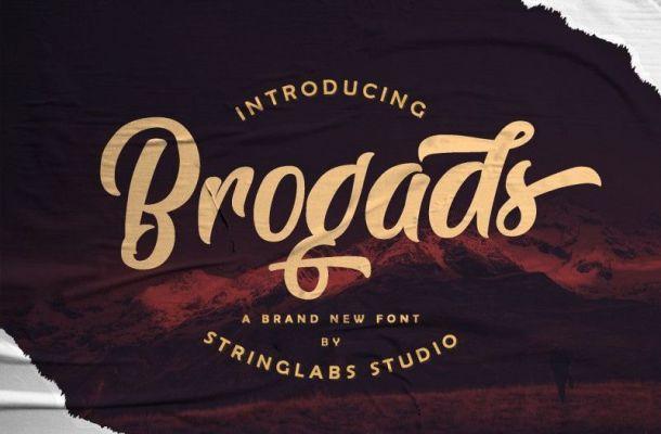 Brogads Script Font