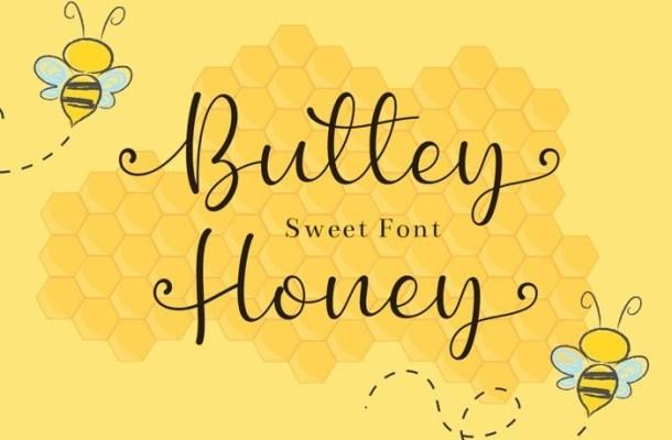 Buttey Honey Calligraphy Font
