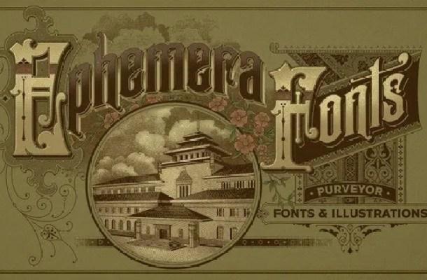Ephemera Serif Sickles Font