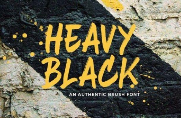 Heavy Black Brush Font