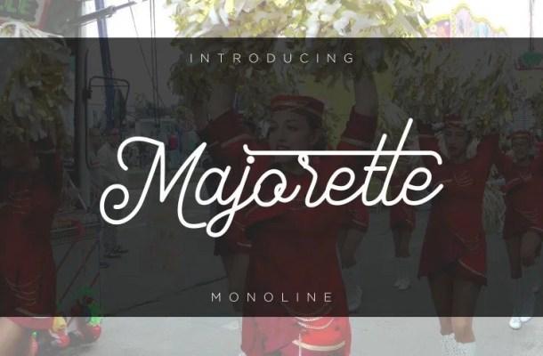 Majorette Monoline Font
