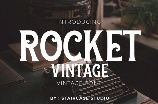 Rocket Vintage Font