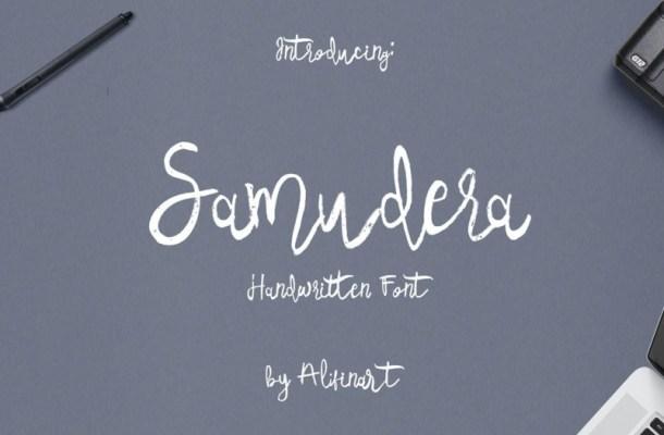 Samudera Script Font