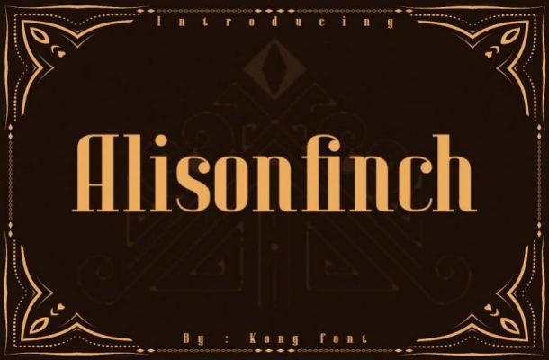 Alison Finch Display Font