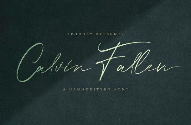 Calvin Fallen Handwritten Font
