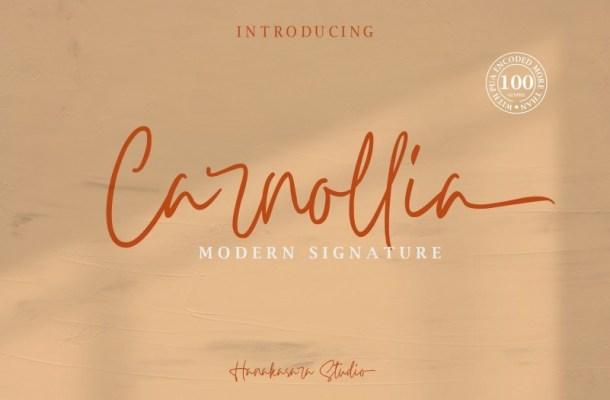 Carnollia Modern Signature Font