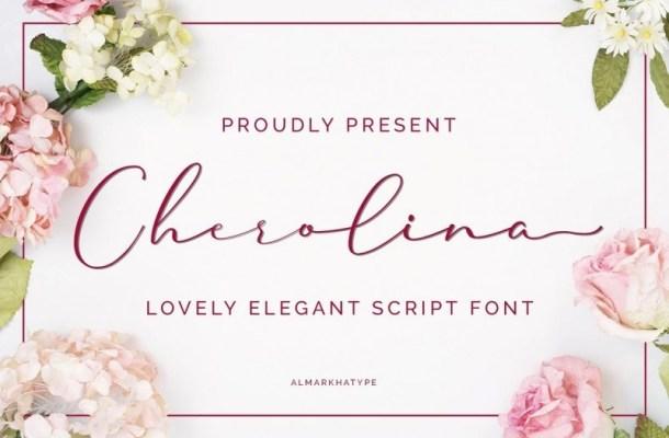 Cherolina Lovely Elegant Script Font