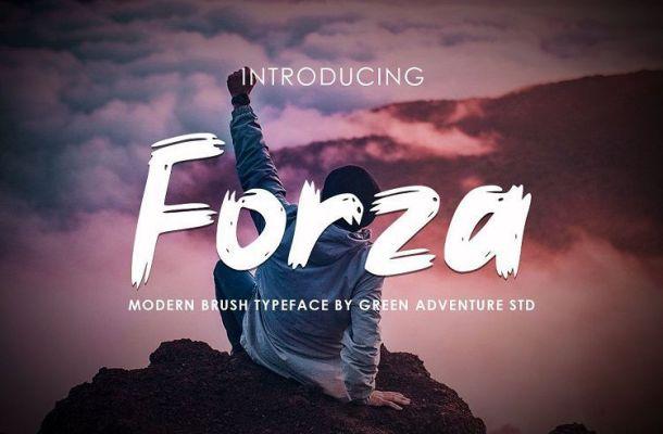 Forza Brush Font