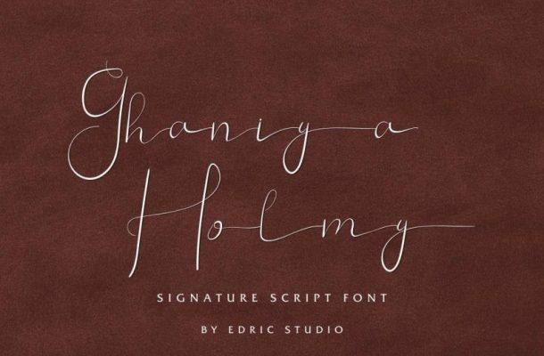 Ghaniya Holmy Signature Font