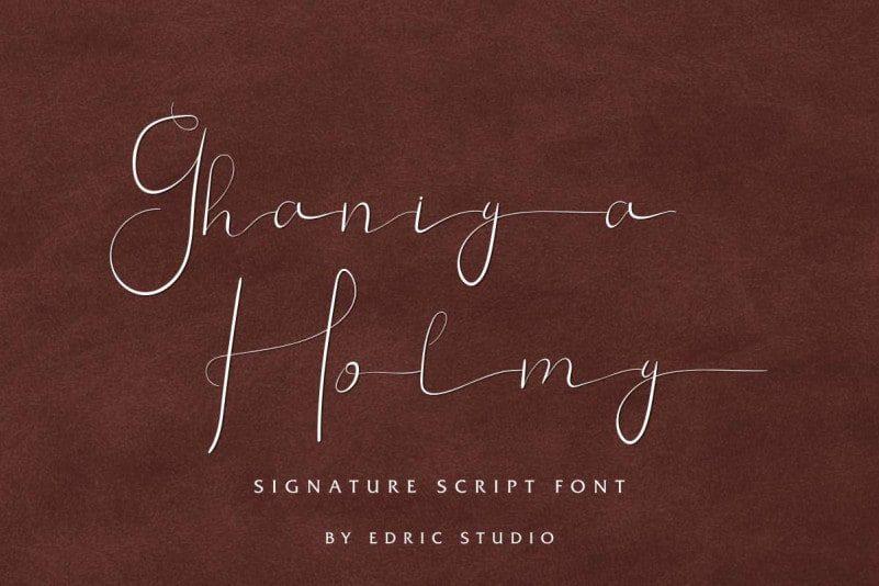 Ghaniya-Holmy-Signature-Font-1