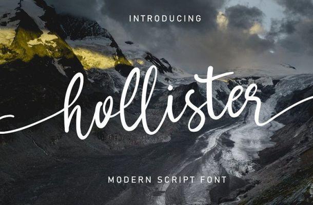 Hollister Modern Script Font
