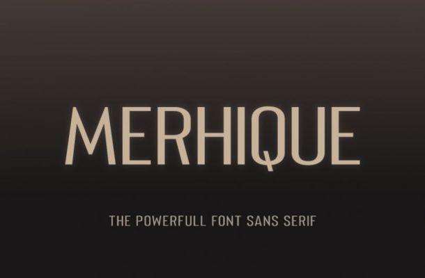 Merhique Sans Font Family