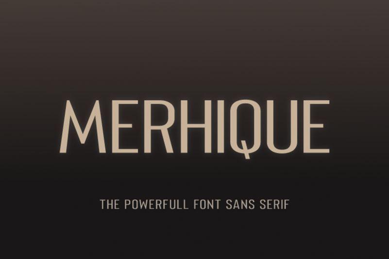 Merhique-Sans-Serif-Family-1