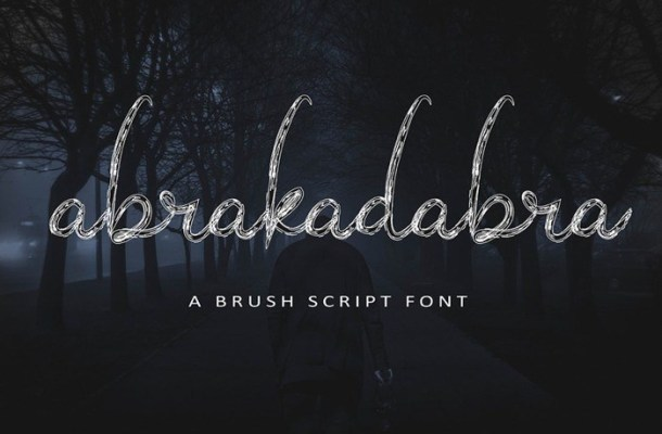 Abrakadabra Script Brush Font