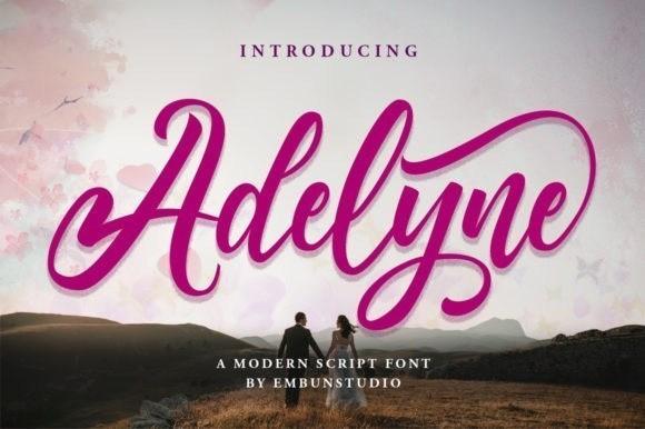 Adelyne Calligraphy Font