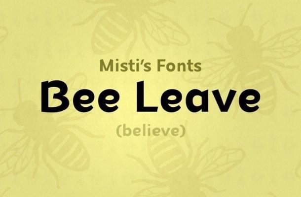Bee Leave Sans Font