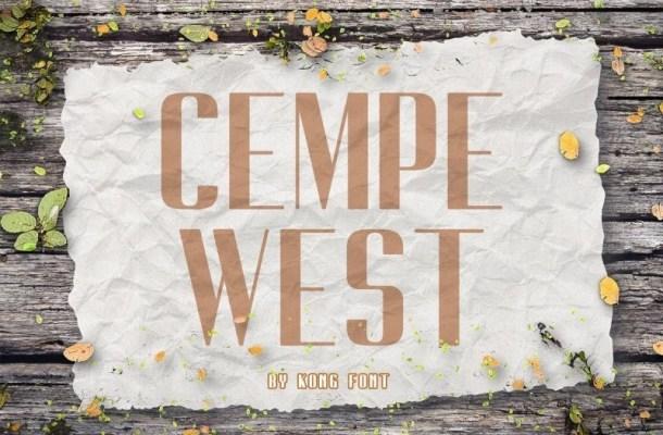 Cempe West Sans Font