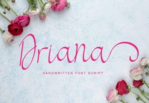 Driana Luxury Script Font