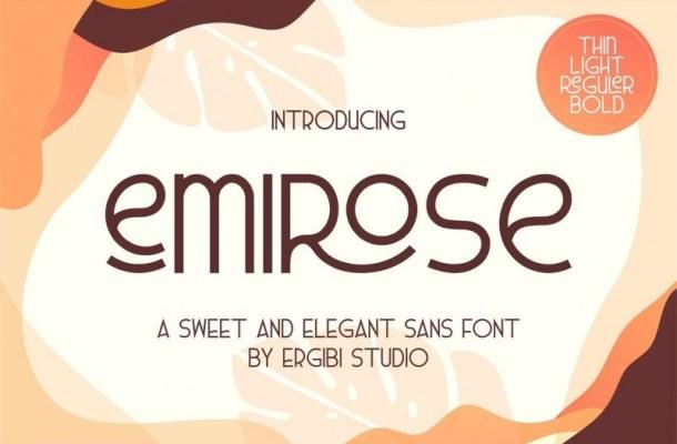 Emirose Sans Serif Font