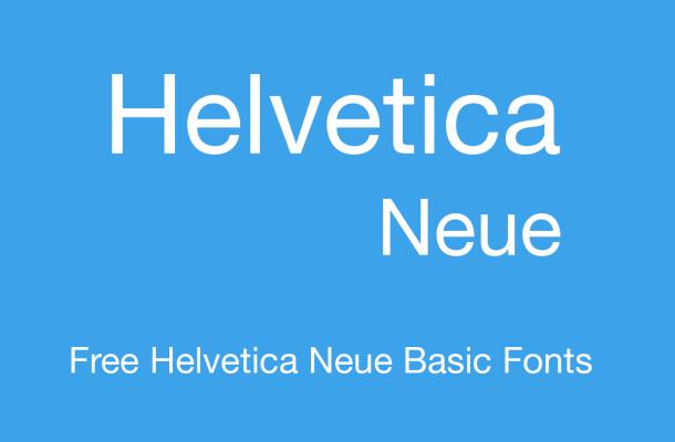 helvetica neue basic font