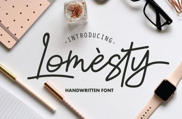Lomesty Handwritten Font
