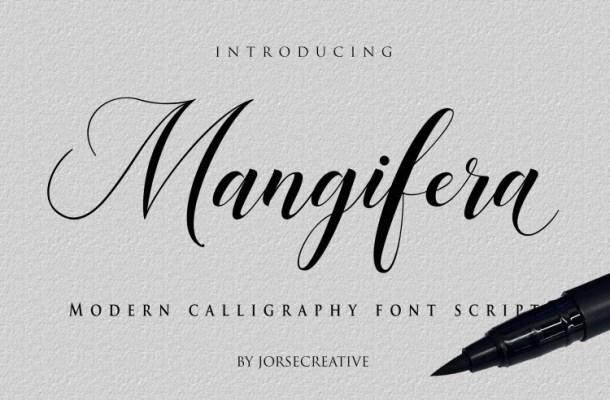 Mangifera Modern Calligraphy Font
