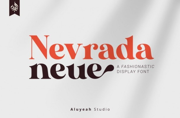 Nevrada Neue Display Font