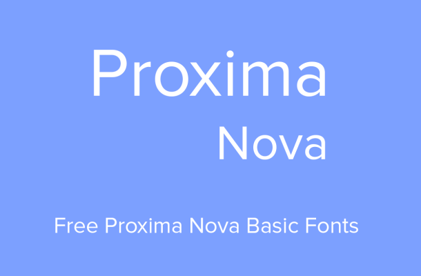 Proxima Nova Basic Font Family