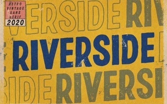 Riverside Texture Display Font