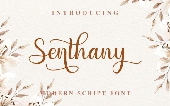 Senthany Calligraphy Font