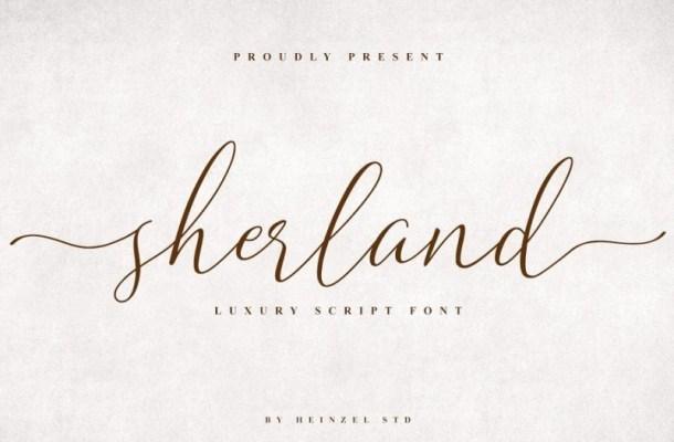 Sherland Handwritten Font