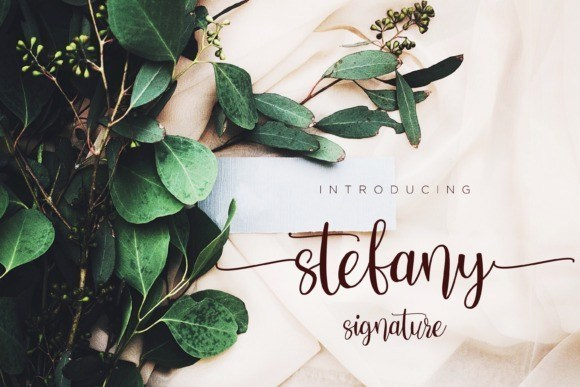 Stefany Calligraphy Font