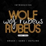 Wolf Rubeus Font Duo