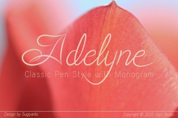 Adelyne Classic Pen Calligraphy Font