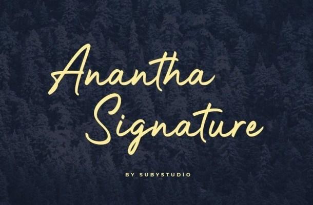 Anantha Signature Font