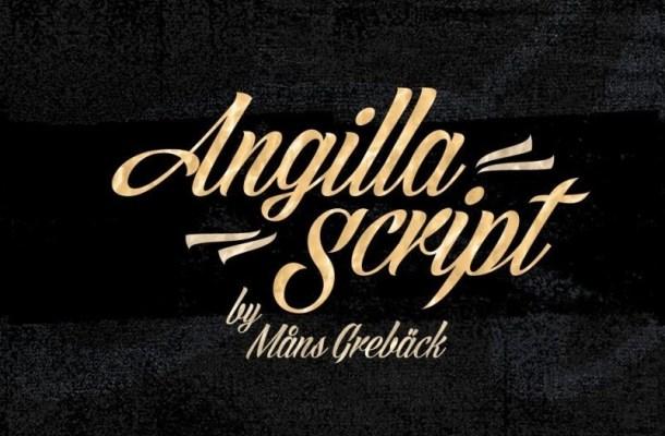 Angilla Script Font