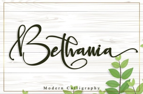 Bethania Modern Calligraphy Font