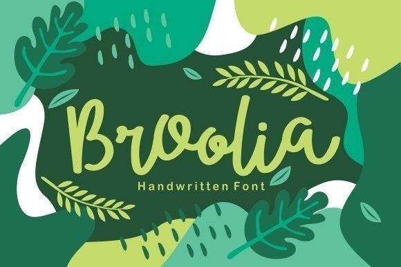Broolia Bold Handwritten Font