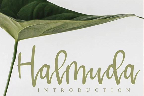Halmuda-Script-Font-1