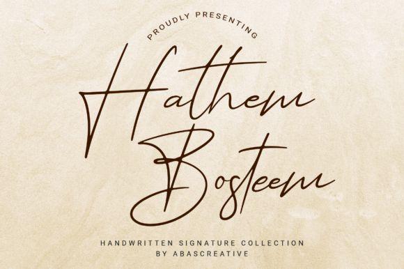 Hathem Bosteem Signature Font