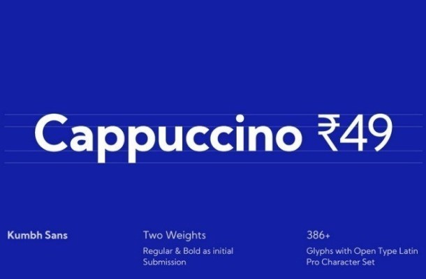 Kumbh Free Sans Serif Font