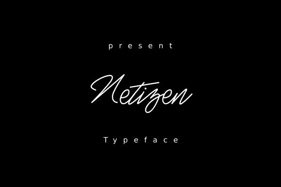 Netizen Handwritten Signature Font