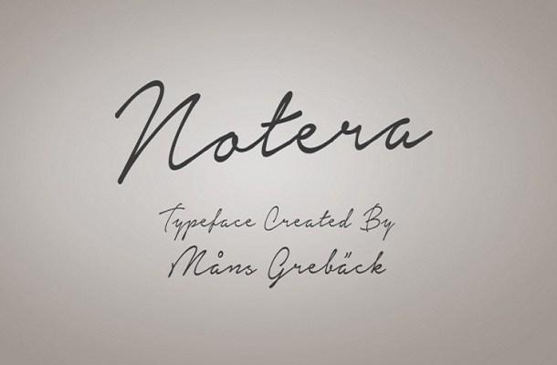 Notera Handwritten Signature Font