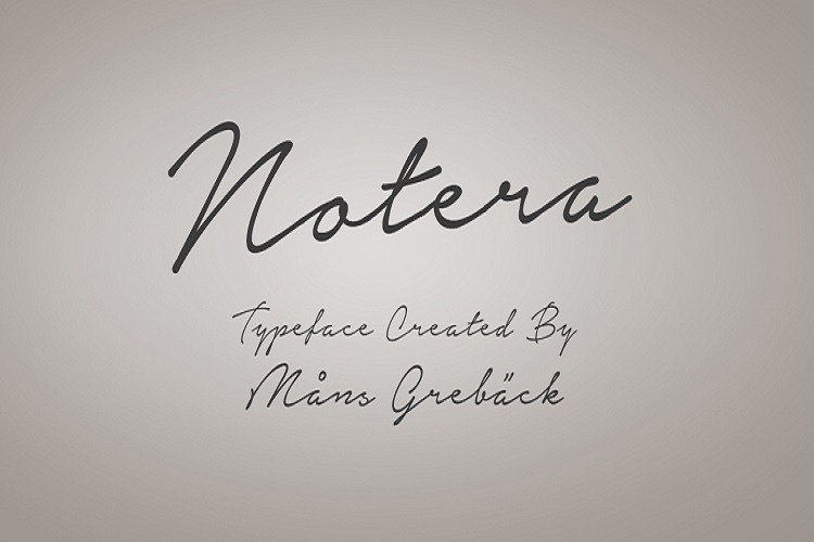 Notera-font