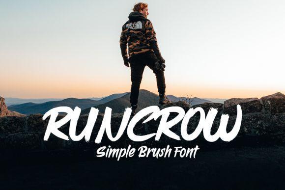 Runcrow Brush Font