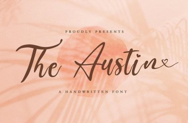 The Austin Handwritten Script Font