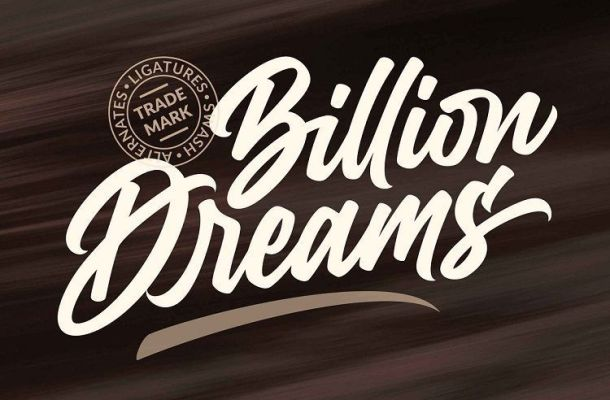 Billion Dreams Script Font