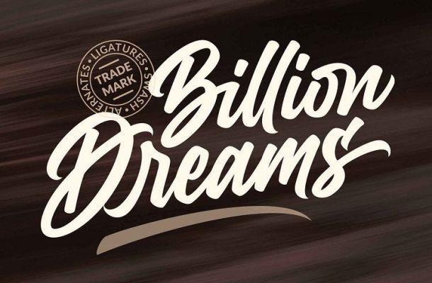 Billion Dreams Script Font